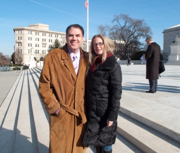 We look happy, but we weren't.  Just after the SCOTUS ruling on Thursday, January 21
